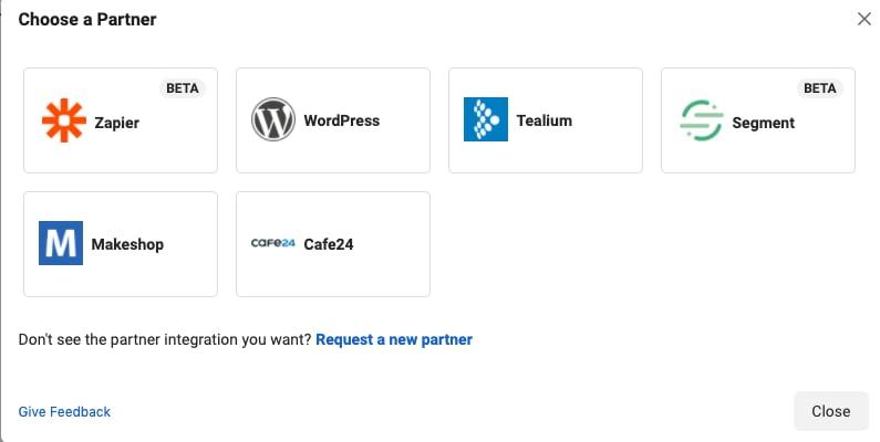 Facebook API Partner integrationer